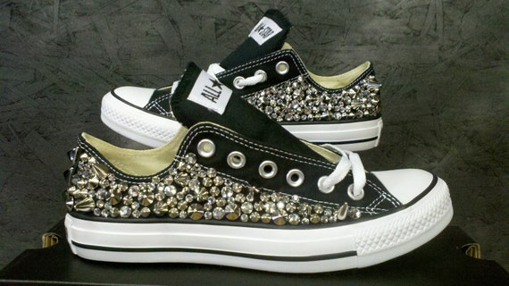 Studded Converse Shoes Swarvoski & Spikes (All 4 Sides Studded)