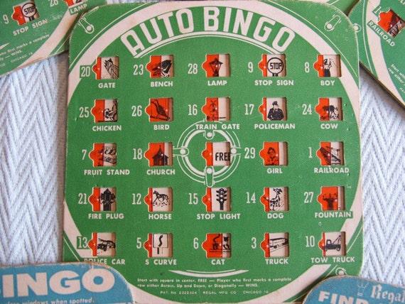 Auto Bingo Traveling Game by Regal Mfg.