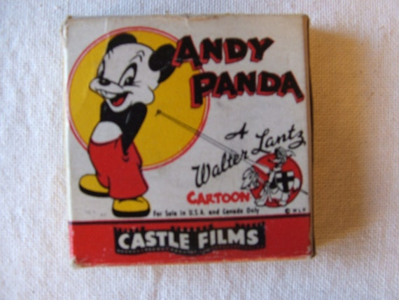 Vintage Andy Panda 8mm Movie Nutty Pine Cabin 475 Cartoon, SALE free shipping in USA