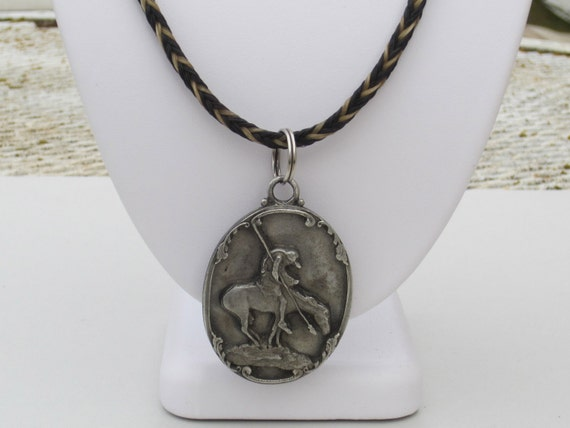Horse Hair Necklace with Last Stand Pendant
