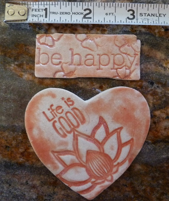 Be Happy Life is Good tiles mosaic or jewelry