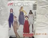 maternity jumpsuit and dress pattern mccalls 4992, uncut pattern