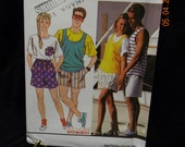 unisex shorts and top uncut pattern simplicity 9720