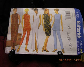 misses /petite dress, tunic and pants, uncut pattern, butterick 5585