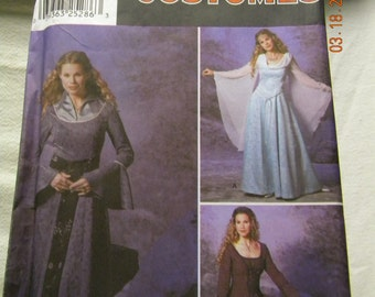 mid century womens gothic dress costume sewing pattern, Simplicity 9891 uncut