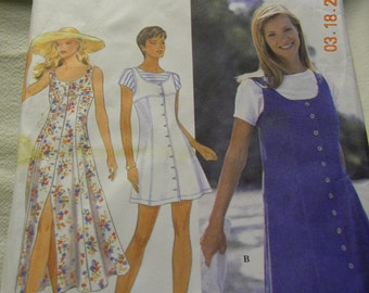 misses pettite dress or jumper and top sewing pattern Simplicity 9614 uncut pattern