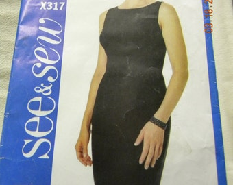 womens little black dress pattern See n Sew x317 uncut pattern