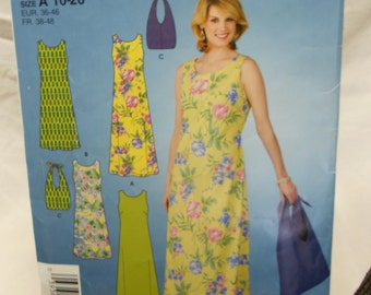 misses miss petite dress in two length and bag cut pattern Simplicity 3724