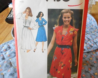 misses dress with front set in camisole cut pattern simplicity 9450