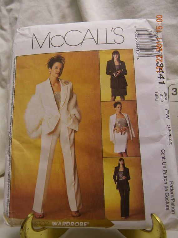 misses' petite lined jacket, pants and skirt pattern uncut mccalls 3441
