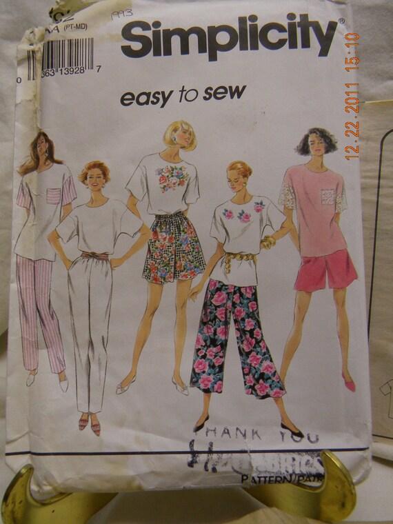 misses' split skirt pants and top uncut pattern simplicity 8362