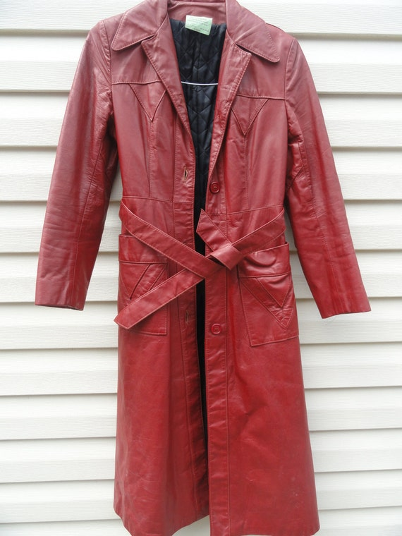 Totally Cool 70s Leather Long Coat PRICE REDUCED