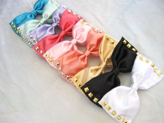 Studded Satin Bows