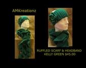 Ruffled Scarf and Headband
