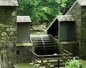"Birkenhead Mills Waterwheel  - Hagley Museum - 20""X16"" Gallery Wrapped Canvas - FREE SHIPPING"