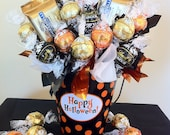 Happy Halloween Tin - Chocolate Candy Bouquet