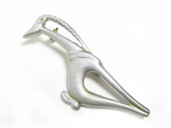 Vintage Antelope Brooch, Gerenuk - Broche Antilope.