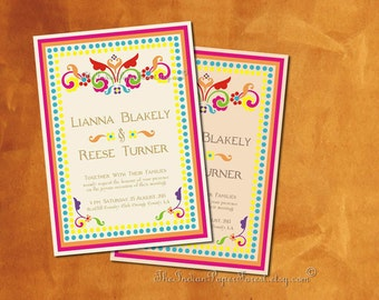Indian Wedding Invitation Pdf RUSTIC RANGOLI Boho Modern Set Bridal Shower Mehndi Walima Nikah Grahapravesh Hindu Sikh Muslim Asian Jain New