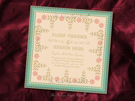 Reserved for Manjari - PRINTABLE Invitation FESTIVE FLOWERS Engagement Diy Pdf Wedding Anniversary Bridal Shower Birthday Party Modern