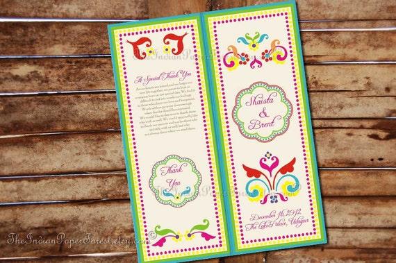 Reserved for Neha - Boho Rustic Indian Wedding Program  RUSTIC RANGOLI Design Pdf Diy Printable Hindu Muslim Order of Service Ceremony