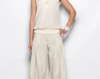 Pleated Elegant Linen Pants