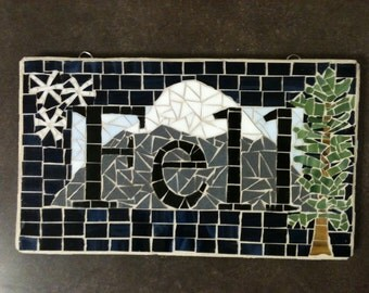 Name Plaque; Mosaic Name Plaque; Name Plate