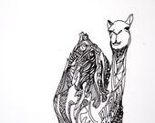Dromedary Screen Print - Black