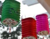 Vintage Square Accordian Chinese Paper Lantern