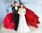 VINTAGE Bride and Groom Topper