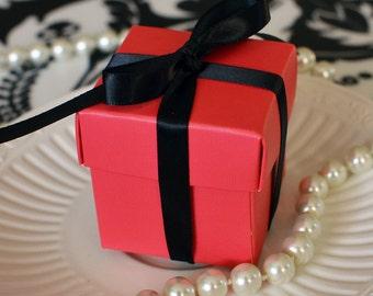 Hot Pink Favor Box-Set of 10