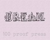 Dream wood Mounted Rubber Stamp 5499