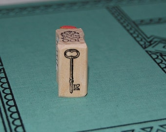 Tiny Skeleton Key Mounted Rubber Stamp 1419