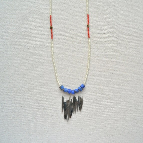 The Buffalo Jump Series in Bone- Antique African trade beads and Czech glass