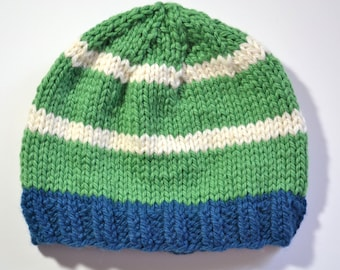Sale - Organic Cotton and Wool Hat size 3 months to 6 months