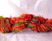 orange, eyelash and blue core-spun handspun HYMQ013