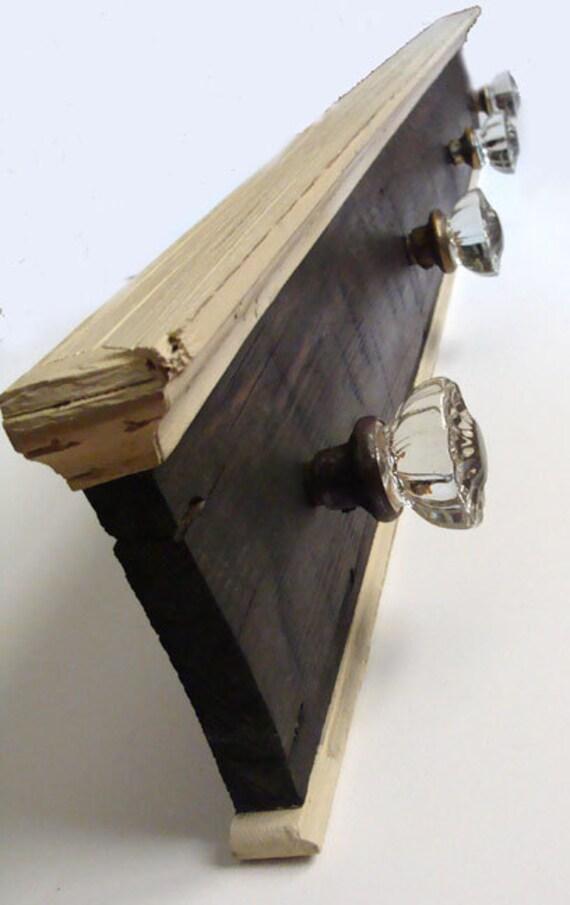 Antique Glass Door Knob Coat Rack on Reclaimed Wood-large