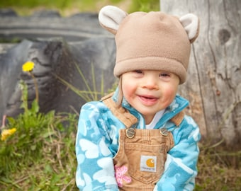 Children's Fleece Bear Hat