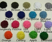 10 Mini Rolled Ribbon Roses 1 inch WHOLESALE You Pick Colors