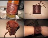 Celtic leather wrist cuff