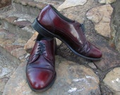 Mens Leather Dexter Oxblood Oxford Dress Shoes