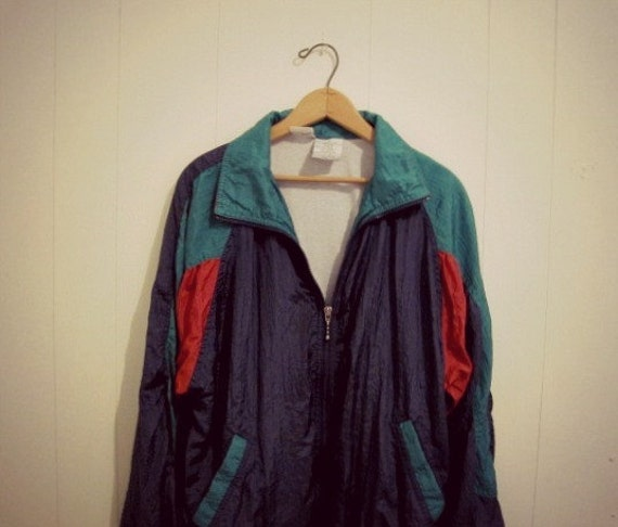 Early 90s Medium Nylon Windbreaker Track Jacket