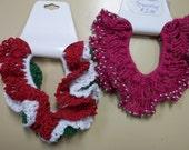 Colorful Christmas Crocheted Hair Ties