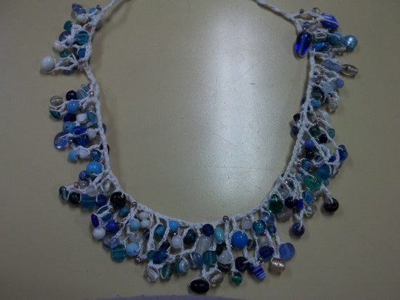 Shades of Blue Delicate Bead Necklace