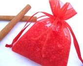 Cinnamon Aroma Bead Sachets, Scented Aroma Beads, Scented Favor Bags, Scented Sachets, Organza Sachet Beads, Red Party Favor Gifts