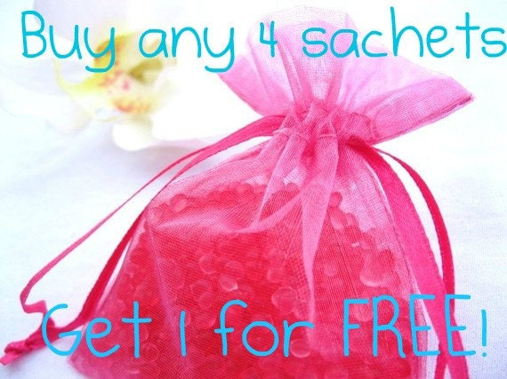 Buy any 4 Aroma Bead Sachets and get 1 for FREE- Your choice of scents - Car Freshener - Air Freshener