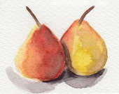 ACEO pair of pears