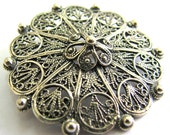 Ethnic Brooch / Pin, 925 Sterling Silver, Artisan, Filigree, Woman Jewelry - ID111