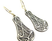 Ethnic Earrings, 925 Sterling Silver Filigree  - ID1115