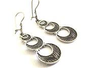925 Sterling Silver, Filigree, Artisan Women Earrings - ID1033