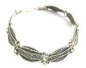 Artisan Filigree Bracelet 925 Sterling Silver- ID276